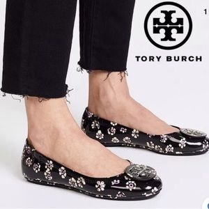 Tory Burch Minnie Leather Travel Ballet Flats